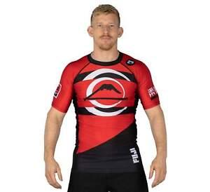 Fuji Vision MMA BJJ Jiu Jitsu ShortSleeve ShortSleeve SS Rashguard - Red
