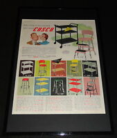 1955 Cosco Framed 11x17 ORIGINAL Advertising Display