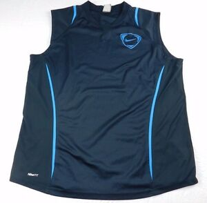 Mens shirt NIKE size XL sleeveless navy top (p67)