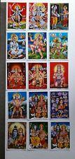 69 Posters Kali Shiva Durga Ganesha Radha Krishna Lakshmi Hanumana 5x7 Inch