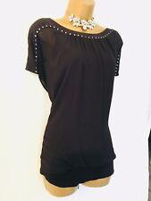 Mint Velvet Blouse Top Size 16 Black Party Evening Occasion B152,.