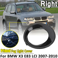 OffSide Fog Driving Light Primed Grill Trim Cover For BMW X3 E83 LCI 2007-2010