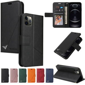 Retro Wallet Leather Flip Stand Case Cover For iPhone 13 12 11 Pro MAX XS XR 8 7