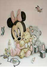 Disney Minnie Mouse art print A4, poster, picture, nursery, watercolour effect