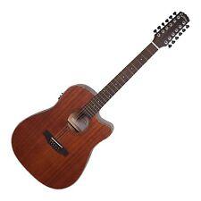 Martinez 12 String Dreadnought Laminated Mahogany Acoustic-electric Guitar