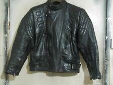 VINTAGE 80's Distressed DYNAMIC LEATHERS Motorcycle Jacket Size 42 Biker Punk