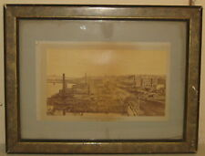 Antique 1882 'THE GREAT FIRE IN HAVERHILL MASSACHUSETTS' Town View PHOTOGRAPH
