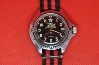 Vintage Zakaz MO USSR VOSTOK Komandirskie military watch,Tank black dial 2414a