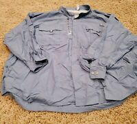 NEW Columbia PFG Men's 5X Blue Fishing Activewear Casual Button Down