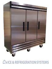 Sun Ice Commercial 3 Door  Reach In Refrigerator Cooler 72 CF Storage SUNRR-71
