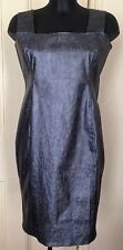Carlotta Actis Barone Metallic Blue/Silver dress RRP £175 M