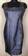 Carlotta Actis Barone Metallic Blue/Silver dress RRP £175 M