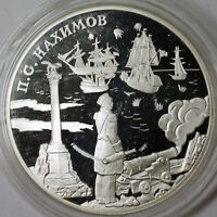 2002 Russia Two Rubles Admiral Nakhimov Silver Proof Commemorative Coin