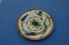 Assiette barbotine papillon et fleurs en relief  N°3