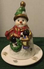 Porcelain Two Piece Snowman Tea Light Holder by Coyne's & Company