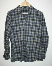 """George Designer Long Sleeve Shirt Multi Blue Checked Pockets Size M Chest 39-41"""""""