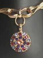 Mariana Flamingo Rose Gold Pink Shimmer Iridescent Swarovski Crystal Bracelet