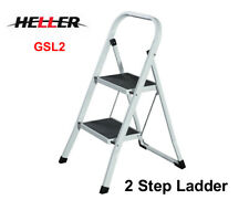 HELLER Portable 2 Step Lightweight/Stool/Folding Non-Slip Foldable Ladder GSL2