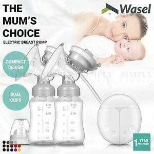 Wasel Electric Breast Pump Automatic Milk Suction Baby Feeder Double Side