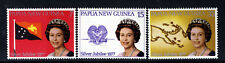 PAPUA NEW GUINEA QE II 1977 Complete Silver Jubilee Set SG 330 to SG 332 MNH