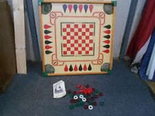 Vintage Carrom Game Board #108P  In Box Boardgame Wood w plastic corners