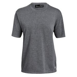 Under Armour UA HeatGear Girlfriend Ladies Grey Loose Crew T Shirt S