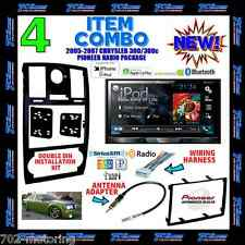 05 06 07 CHRYSLER 300 300C PIONEER DOUBLE DIN BLUETOOTH BT CAR RADIO STEREO KIT
