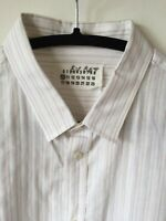 Maison Martin Margiela Shirt XL (Size 44) Soft White wSubtle Stripes Cotton XLNT