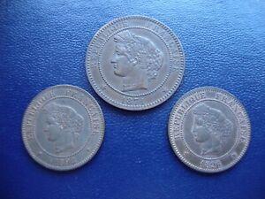 France 10 & 5 centimes1871-A, 1892-A & 1896-A