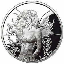 1 oz 999 Fine Silver Proof Coin - Amy Brown - Wall Flower - 5th coin in series