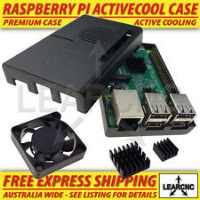 Raspberry Pi 3 2 Plus B+ Case / Box / Enclosure ultra Quiet ACTIVE FAN COOLING