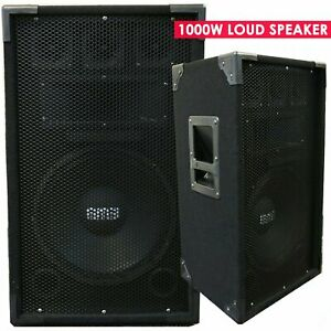"Single 12"" 1000 Watts Pro Audio Woofer Portable Powerful Passive Loud Speaker"