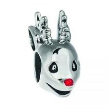 🎄Chamilia RUDOLPH Red Nosed Reindeer Enamel & Sterling Charm Bead 2020-0987 $40