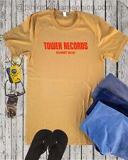 Tower Record sunset Blvd T shirt Rock Vinyl music Hollywood unisex shirt XS-4XL