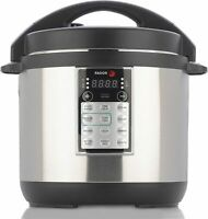 Fagor Lux 6 Qt. Electric Pressure, Slow, Rice, Multi-Cooker, Silver