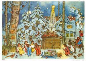 Wunderschöner alter Adventskalender mit Glitzer. Made in West-Germany  10385