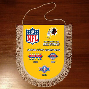 Pennants Washington Redskins SUPER BOWL CHAMPIONS NFL USA 1966-2020