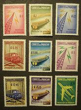 """Paraguay 1961: """"PARAGUAY EN MARCHA"""" cpl set, 9 stamps MNH / postfrisch"""