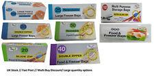 Food Bags Storage Freezer Resealable Slide Zipper Large Double Zipper Secure Bag