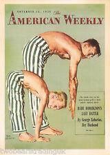 Postcard: Vintage Advertising Posters - American Weekly Magazine, 1956 (2014)