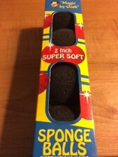 Sponge Balls - Magic by Gosh - Super Soft 2 Inch Black Sponge Balls - A Classic!