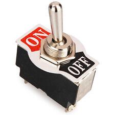 Leistungsschalter, Kippschalter, ON-OFF Schalter, 2 Kontakte 1 Schließer, Chrom
