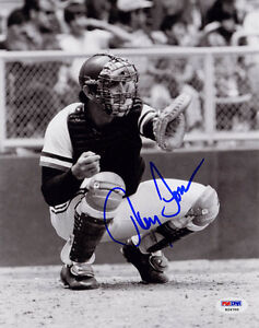 Ray Fosse SIGNED 8x10 Photo Oakland A's Indians PSA/DNA AUTOGRAPHED