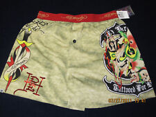 NWT ED HARDY KHAKI TATTOOED FOR LIFE BOXER S (28-30)