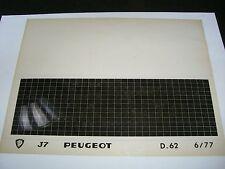 Ersatzteil Mikrofilm Planfilm Microfiche Peugeot J7 v. Juni 1977