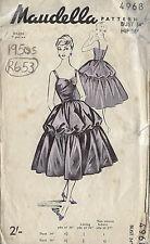 "1950s Vintage Sewing Pattern B34"" DRESS (R653)"