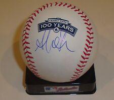 Adrian Gonzalez Signed Baseball w/COA Official MLB Fenway Park 100 Year Anniv.
