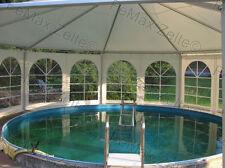 Festzelt Partyzelt Poolüberdachung 8eckig 53m² / Traufe 2,25m oder 2,50m