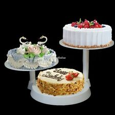 3 Tier Glass Cake Stand Cupcake Holder Display Tower Round for Wedding Party