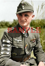 German WW 2 Sergeant Major Panzergrenadiere Colorized Photo 8 X 10 Reproduction